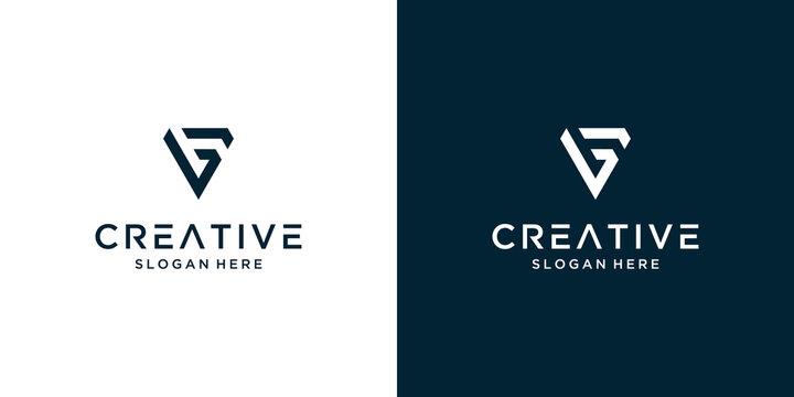 Minimalist elegant letter V logo design inspiration