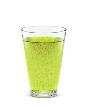 グラス 緑茶 飲み物 イラスト リアル 汗