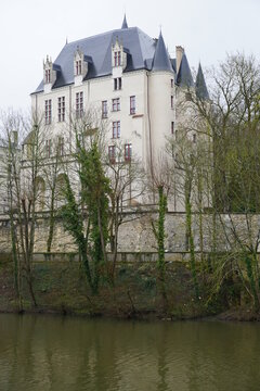 castle on the river of Chateauroux, France