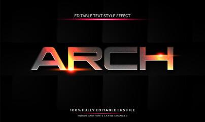 editable text style effect futuristic theme bright color. vector illustration template