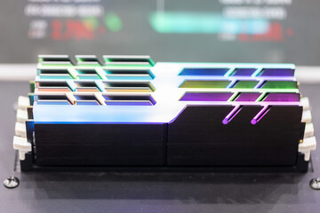 RGB Computer Ram in a Slot Wall mural