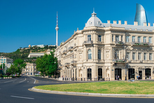 Beautiful Building of Azerbaijan in Baku