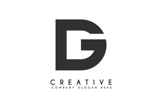 initials letter dg logo design vector illustration,