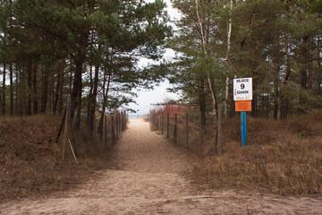 Beach entrance no.9 in Gdańsk Sobieszewo