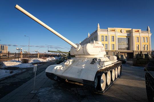 military equipment-retro exhibit of the Military History Museum, Russia, Yekaterinburg, Verkhnyaya Pyshma, Sverdlovsk region 27.03.2021