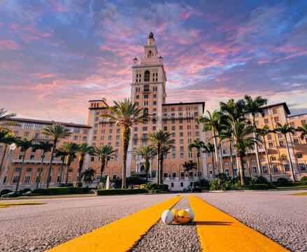 hotel beautiful place vacation Miami Florida usa golf cute tropical