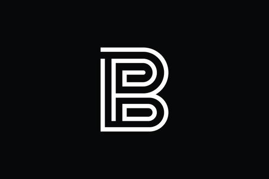 BP logo letter design on luxury background. PB logo monogram initials letter concept. BP icon logo design. PB elegant and Professional letter icon design on black background. B P PB BP
