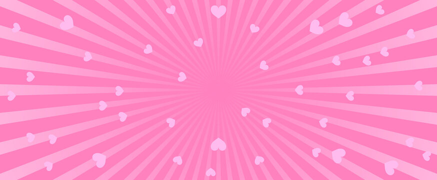 Abstract pink background with hearts. Abstract pink background with little hearts. Decoration banner themed Lol surprise doll girlish style. Invitation card template