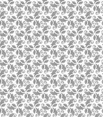 Fototapeta Modern Seamless Vector Fine Pattern With Leaves obraz