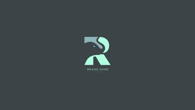 Alphabet letter Initial R, RR elephant logo vector design, minimal, innovative, creative, symbol, sign, monogram, template, logotype, concept, branding for premium business typeface, startup, company.