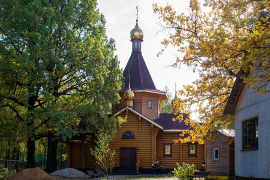 Wooden Church of the Holy Blessed Prince Alexander Nevsky in Lianozovo, Moscow.