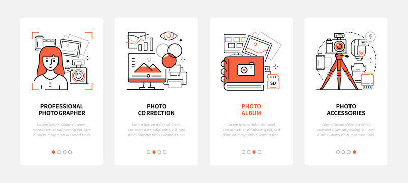 Photography - modern line design style web banners