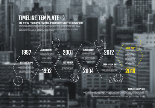 Infographic Timeline Layout with Background Photo