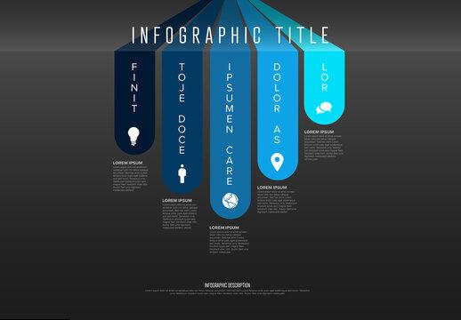 Dark Blue Infographic Layout