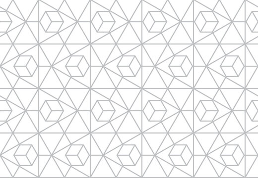 The geometric pattern with lines. Seamless vector background. White and gray texture. Graphic modern pattern. Simple lattice graphic design
