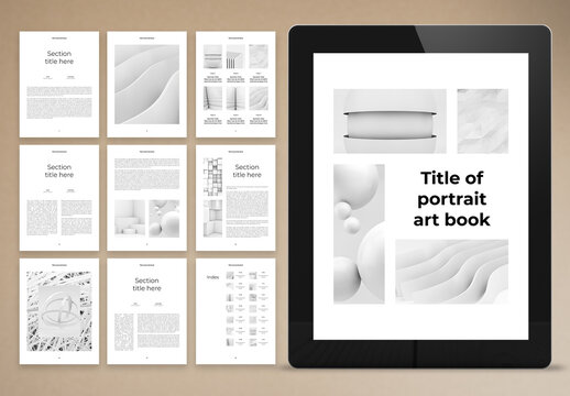 Black and White Electronic Book Layout