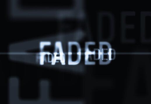 Misty Blurred Thriller Text Effect