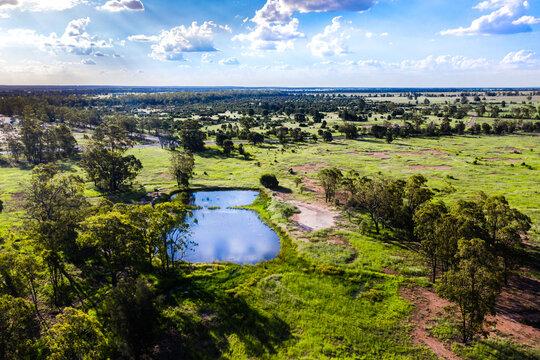 full dam on a farm