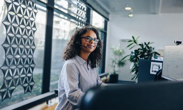 Portrait of customer service representative in the office