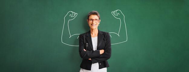 Obraz Portrait of a successful, strong business woman - fototapety do salonu