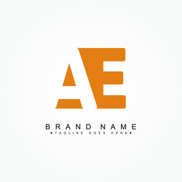Initial Letter AE Logo - Simple Business Logo