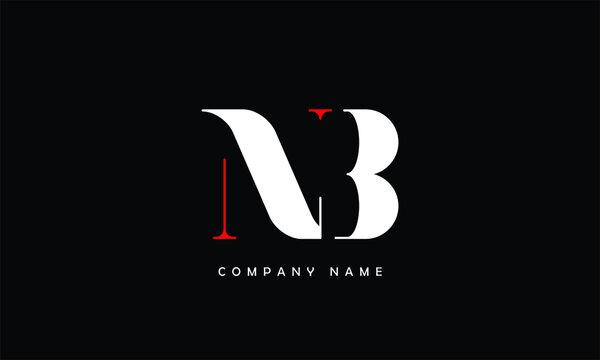 NB, BN, N, B Abstract Letters logo Monogram