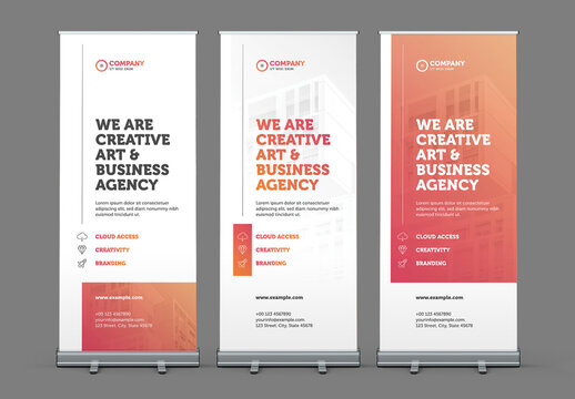 Rollup Banner Set Layout