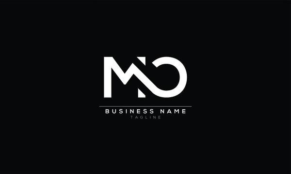 MO M AND O Abstract initial monogram letter alphabet logo design