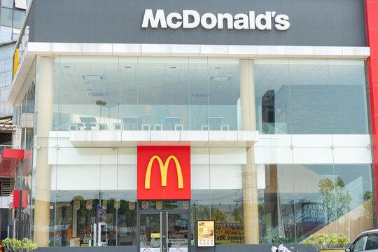 ZHONGSHAN GUANGDONG China-March 30 2021:McDonalds in a shopping mall.