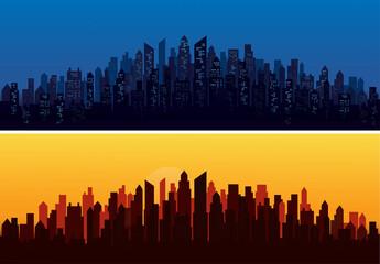 modern city skyline landscape backgrounds vector illustration EPS10