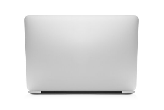 The back view of the new laptop on white background, including clipping path