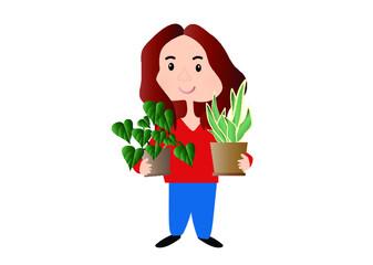 Obraz dziewczyna, kobieta, kwiaty, pasja, ogrodniczka, ogród, sadek, dom, kwiaty, pasja, miłość, radość, opieka - fototapety do salonu