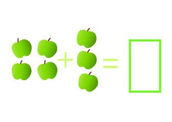Fototapeta jabłka, nauka, edukacja, szkoła, dom, w, wrzesień, koniec roku, uczeń, nauczyciel, dyrektor, poradnia, psycholog, matematyka, uczymy się, liczyć obraz