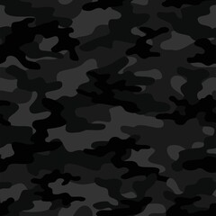 Fototapeta dark military camouflage. vector seamless print. army camouflage for clothing or printing