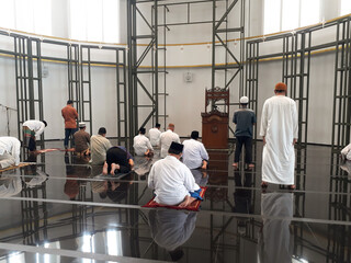 The mosque is a place of worship for Muslim men and women, young and old 2021 Wall mural