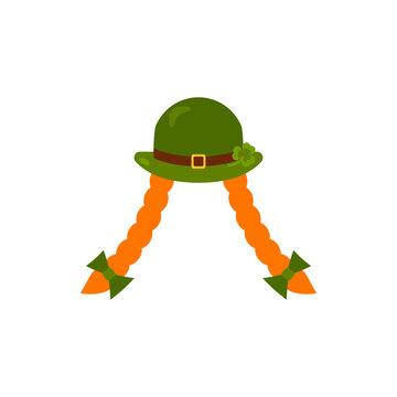 St. Patrick s Day poster. Leprechaun in a face mask. Vector illustration