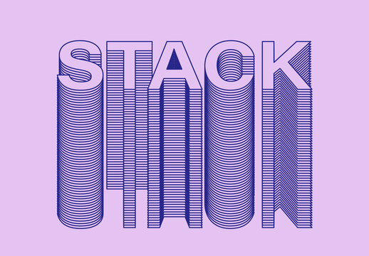 Stacked Text Effect