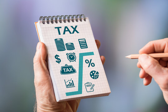 Tax concept on a notepad