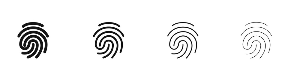 Obraz Fingerprint icons set. Identity, authorization or privacy concept. Vector illustration in modern style - fototapety do salonu