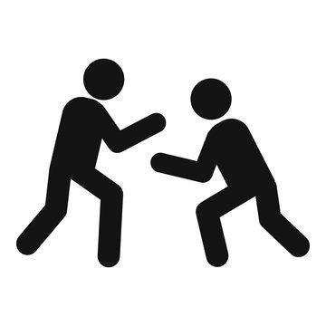Greco-roman wrestling team icon, simple style