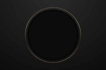 Abstract black paper background triangles shape overlapping layer