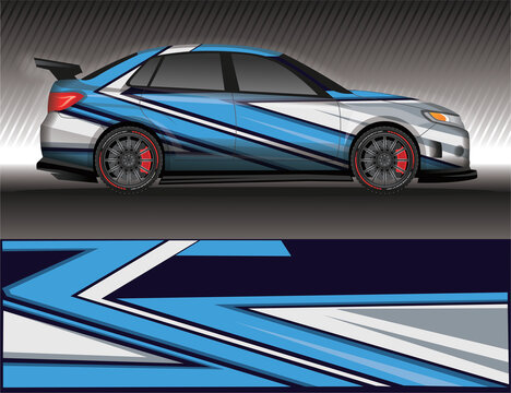 wrap car decal livery,rally race style vector illustration abstract background