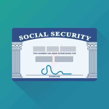US social security card (flat design)