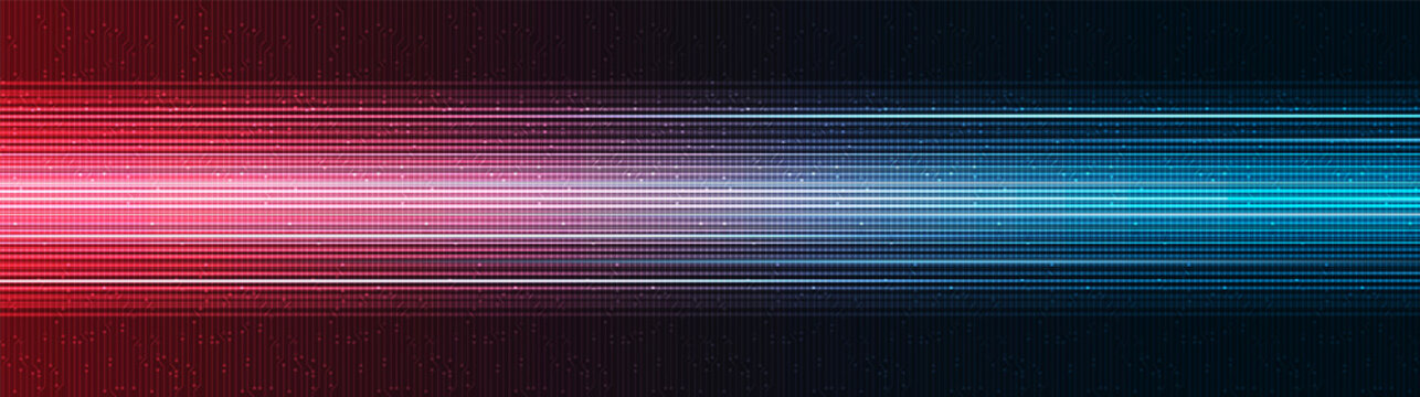 Panorama Future Speed Light Technology Background,Hi-tech Digital and sound wave Concept design,Free Space For text in put,Vector illustration.