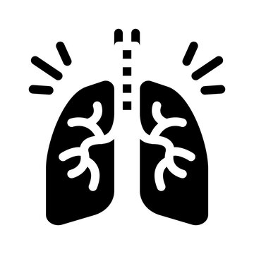 healthy lungs glyph icon vector. healthy lungs sign. isolated symbol illustration
