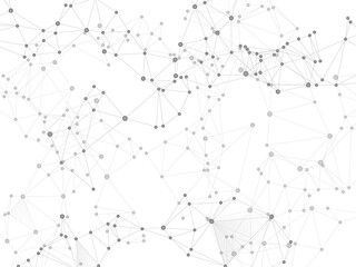 Block chain global network technology concept.