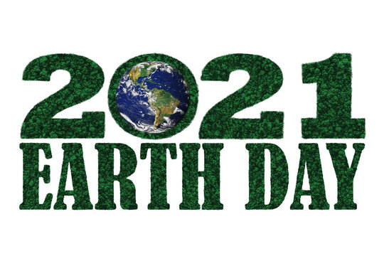 Earth Day 2021 in the shape of forest trees