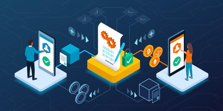 Smart contract transaction on blockchain