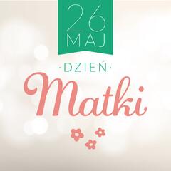 Dzień Matki. Grafika prosta na baner kartkę z życzeniami. Życzenia na dzień Matki. - fototapety na wymiar