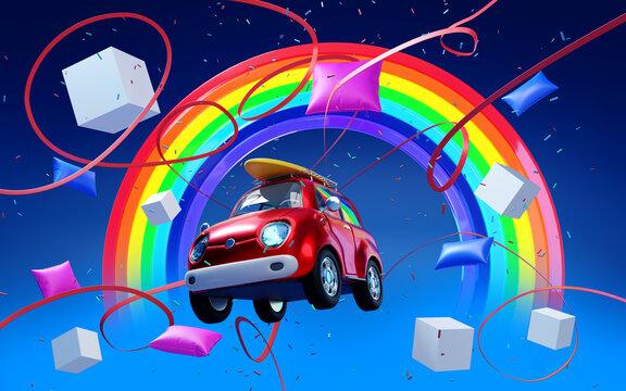 car surfing in dream world